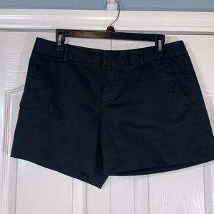 Banana Republic Black Hampton Sateen Shorts
